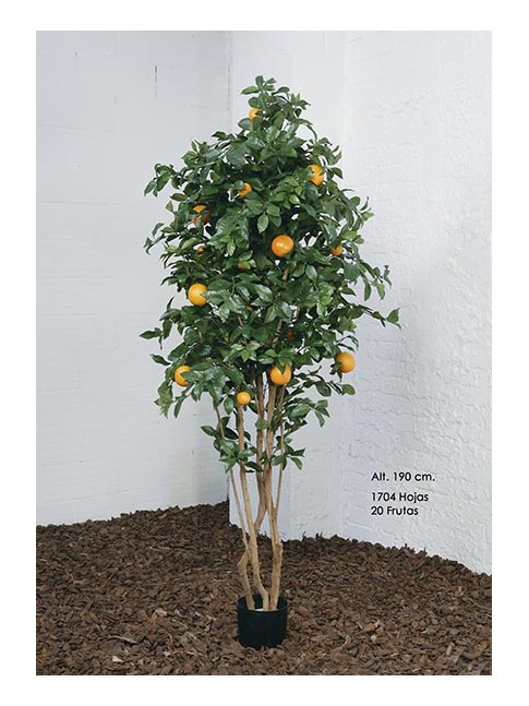 MACETA NARANJO FRUTAL DECORACION ARTIFICIAL 190 CM ALTURA