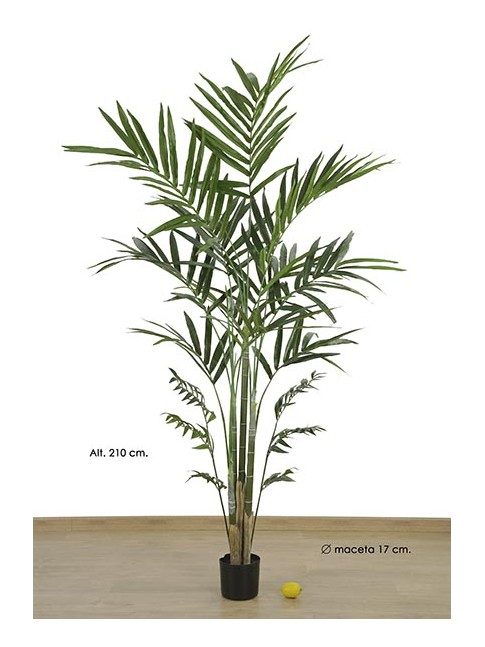 KENTIA ARTIFICIAL EN MACETA PALMERA artificial 210CM
