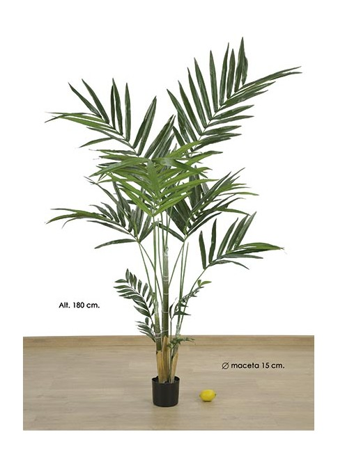 KENTIA ARTIFICIAL EN MACETA PALMERA artificial 180 CM